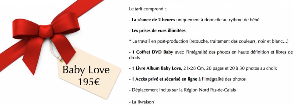 Tarif baby love 2014